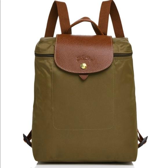 NWT Longchamp Le Pliage Nylon Backpack Boutique 73d675b037bc6